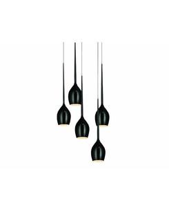Подвесной светильник Azzardo AZ0312 SHINY BLACK IZZA (MD 1288A-5BL)