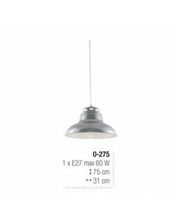 Подвесной светильник Edylit 0-275 Gary Silver