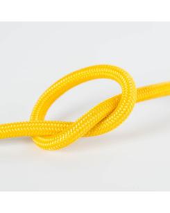 Провод в тканевой оплетке желтый