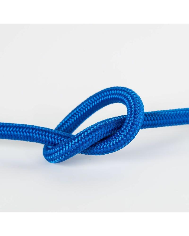 Провод в тканевой оплетке джинсовый синий