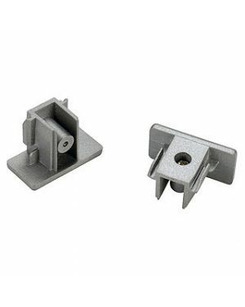 SLV 143132 End caps 2pcs silver-grey