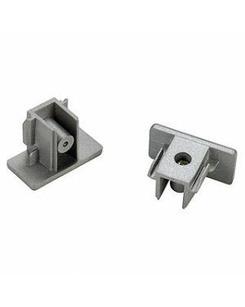 SLV 143132 End caps 2pcs silver-grey
