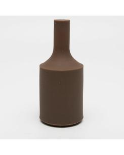 Патрон с силиконовой накладкой коричневый
