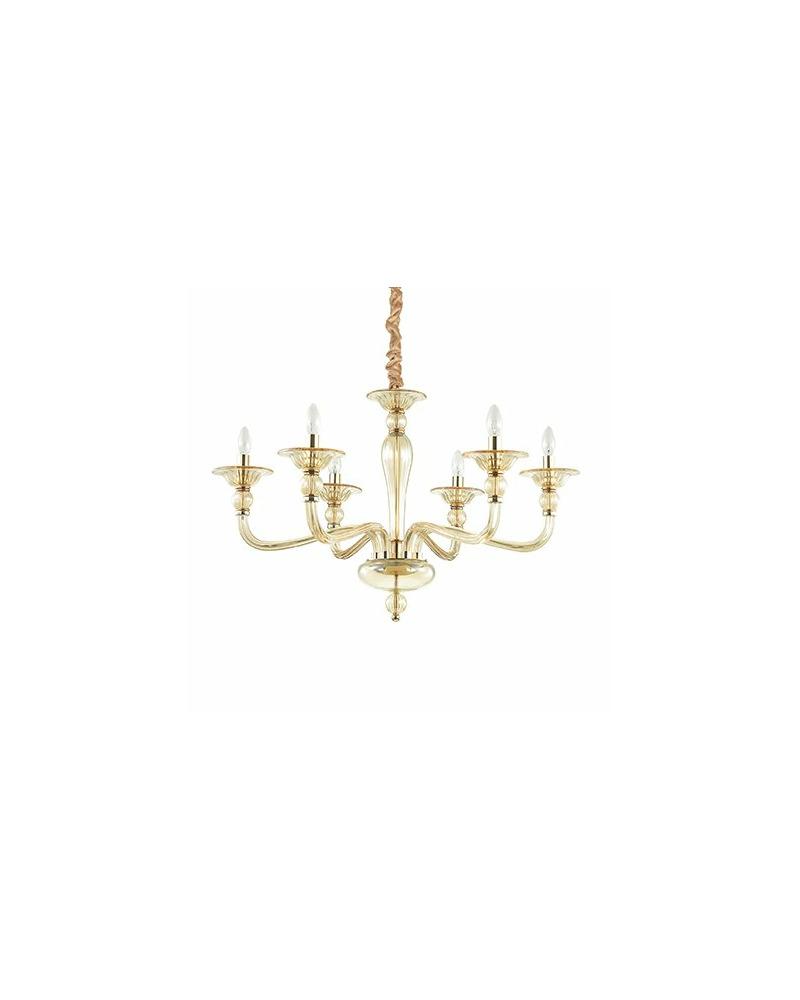 Люстра подвесная Ideal Lux Danieli Sp6 Ambra 159942