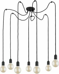 Люстра припотолочная TK Lighting 2363 Qualle Black