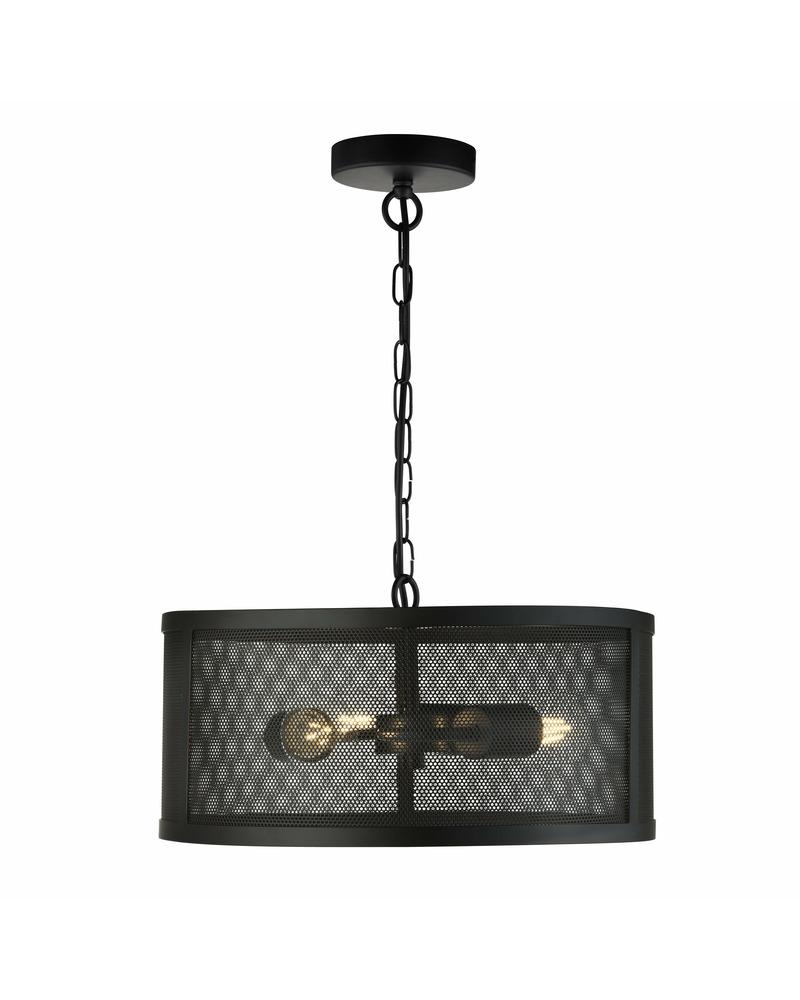 Подвесной светильник Searchlight 12483-3BK Fishnet