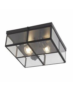 Потолочный светильник Searchlight 6769-26BK Flush