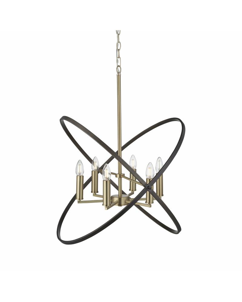 Люстра подвесная Searchlight 8246-6BZ Hoopla