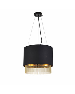 Подробнее о Подвесной светильник Searchlight 8723-3BK Fringe