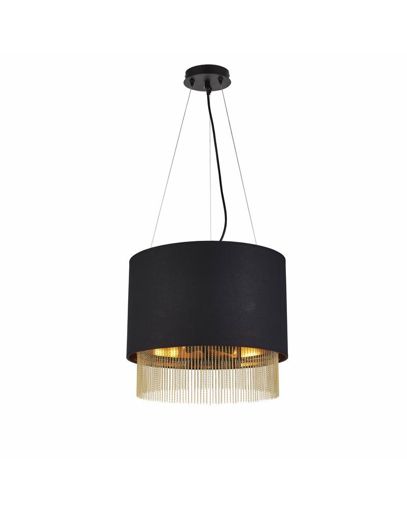 Подвесной светильник Searchlight 8723-3BK Fringe