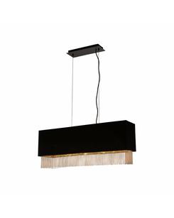 Подвесной светильник Searchlight 8724-4BK Fringe