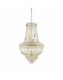 Люстра подвесная Ideal Lux Dubai sp10 ottone 207216