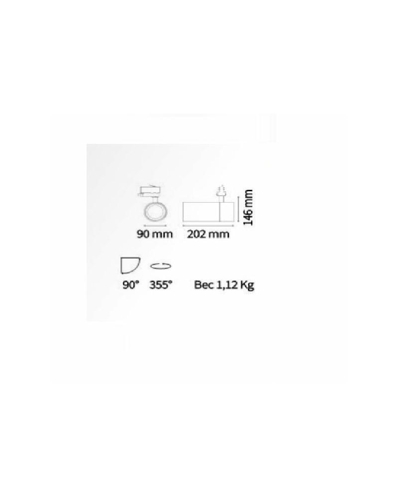 Трековый прожектор Ideal Lux Quick 28w 222615