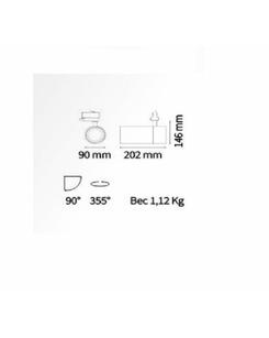 Трековый прожектор Ideal Lux Quick 28w 222639