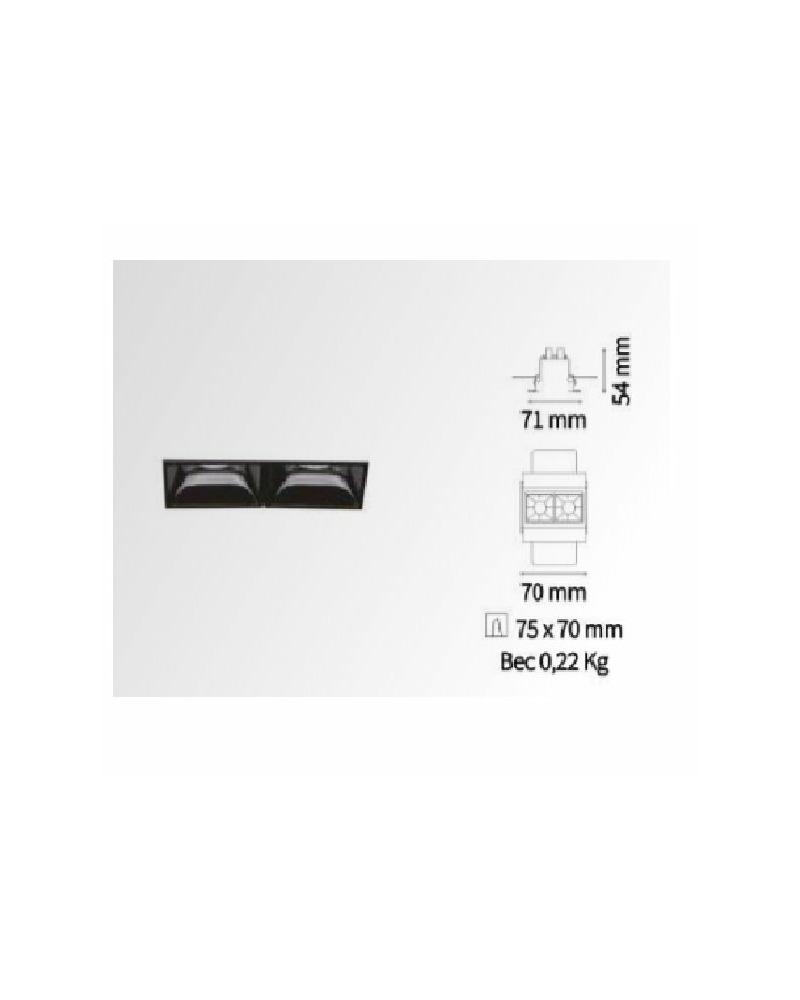 Точечный светильник Ideal Lux Lika trimless 206202