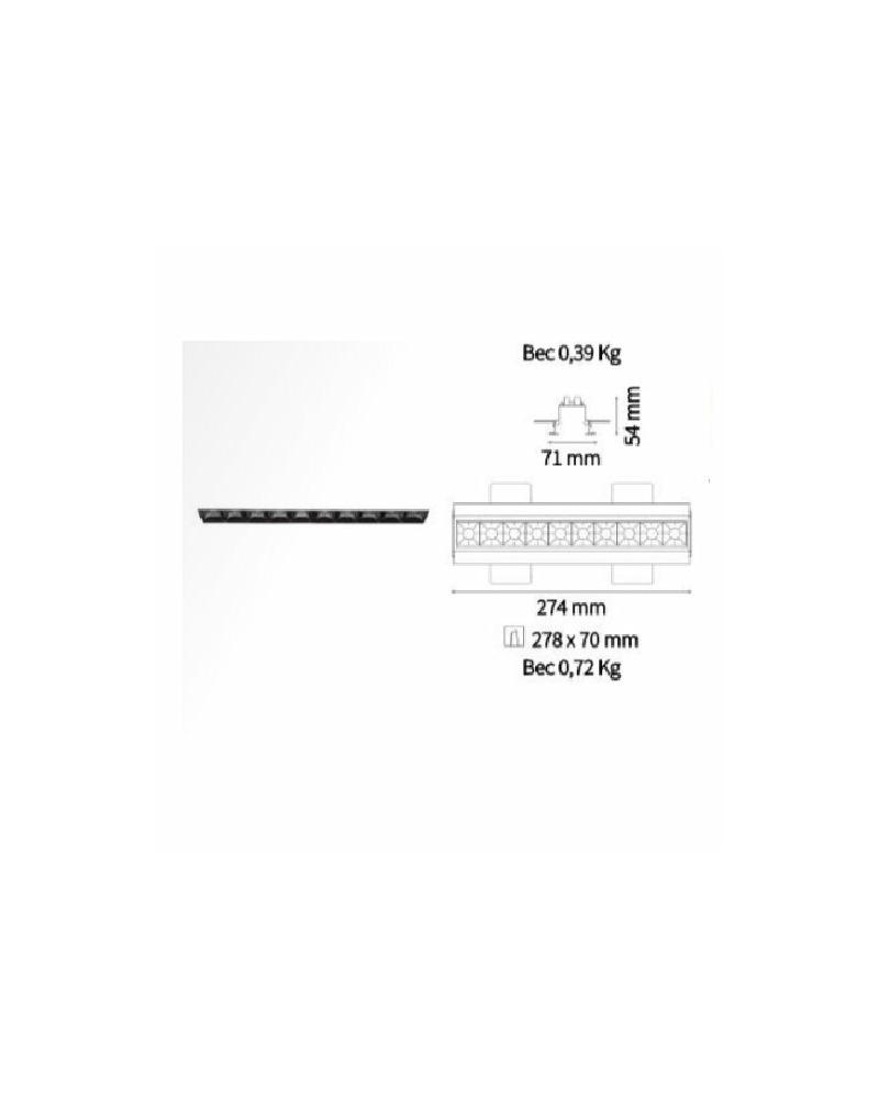 Точечный светильник Ideal Lux Lika trimless 206240