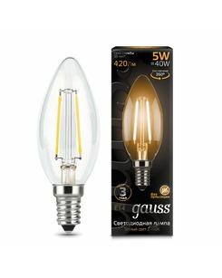 Лампочка Gauss 103801105 C37 E14 5 Вт 2700K