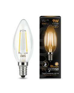 Лампочка Gauss 103801109 C37 E14 9 Вт 2700K