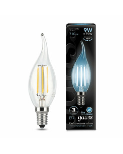 Лампочка Gauss 104801209 C37 E14 9 Вт 4100K