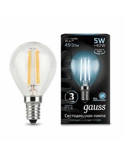 Лампочка Gauss 105801205 P45 E14 5 Вт 4100K