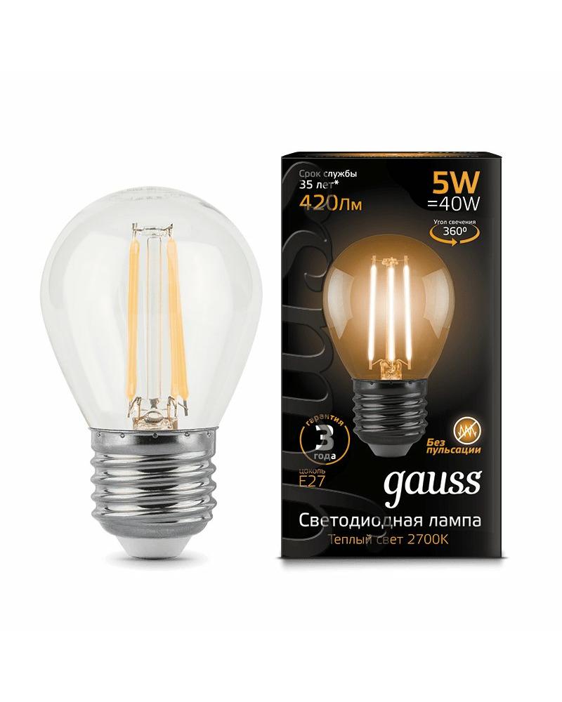Лампочка Gauss 105802105 P45 E27 5 Вт 2700K