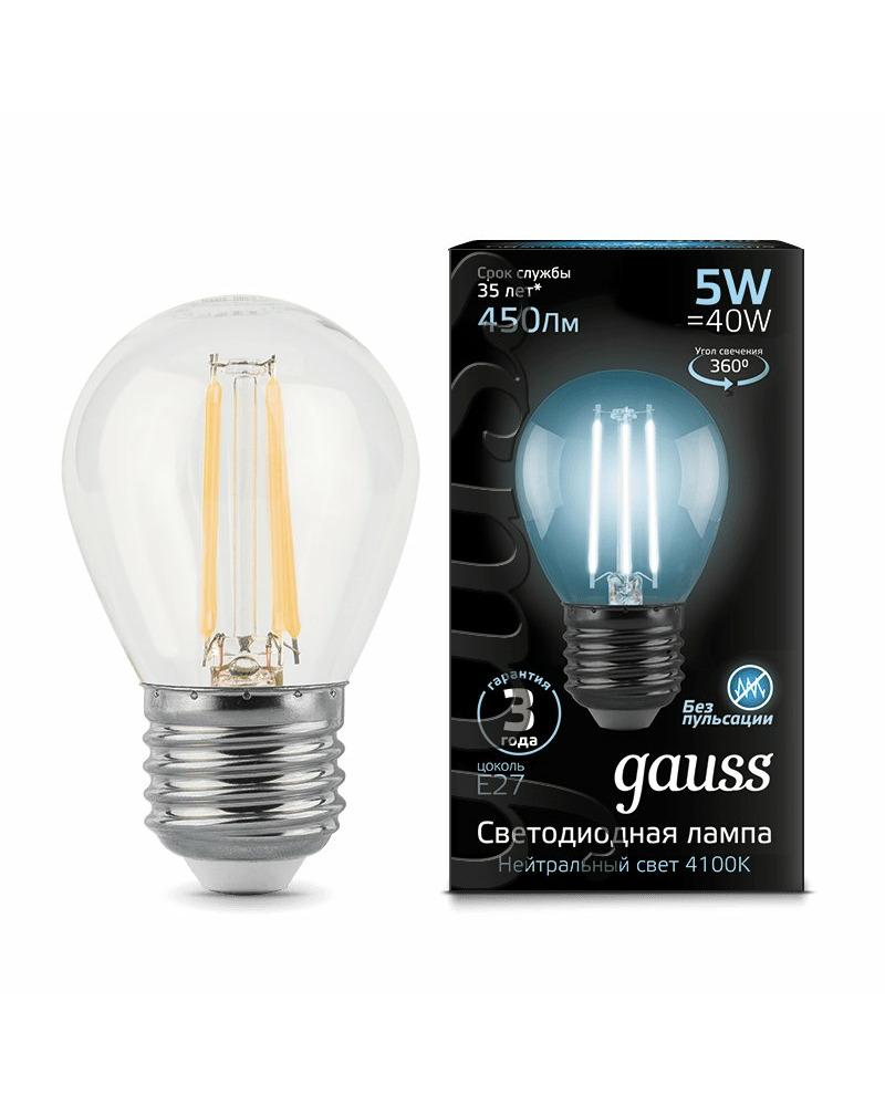 Лампочка Gauss 105802205 P45 E27 5 Вт 4100K