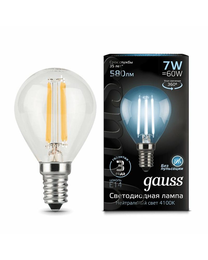 Лампочка Gauss 105801207 P45 E14 7 Вт 4100K