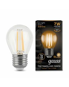 Лампочка Gauss 105802107 P45 E27 7 Вт 2700K