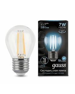 Лампочка Gauss 105802207 P45 E27 7 Вт 4100K