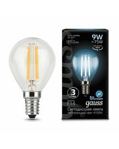 Лампочка Gauss 105801209 P45 E14 9 Вт 4100K