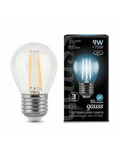 Лампочка Gauss 105802209 P45 E27 9 Вт 4100K