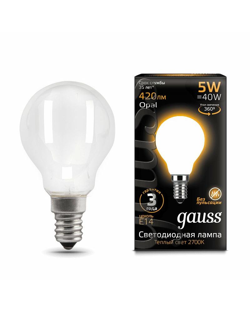 Лампочка Gauss 105201105 P45 E14 5 Вт 2700K