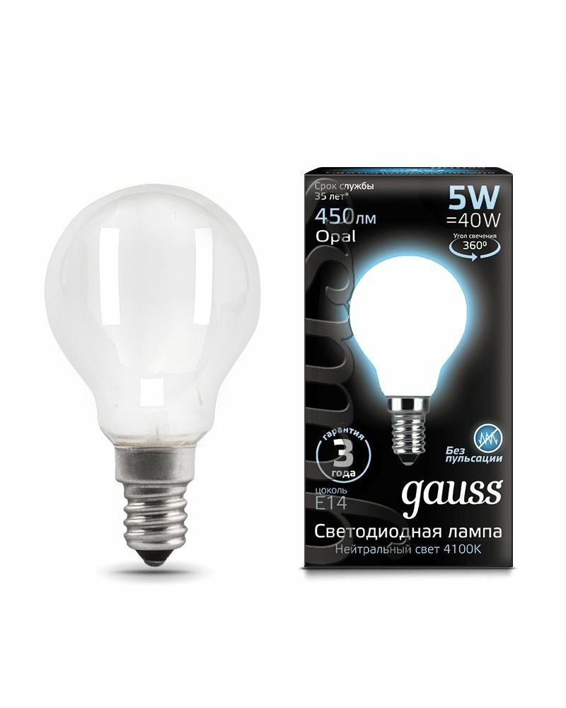 Лампочка Gauss 105201205 P45 E14 5 Вт 4100K