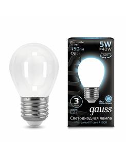 Подробнее о Лампочка Gauss 105202205 P45 E27 5 Вт 4100K