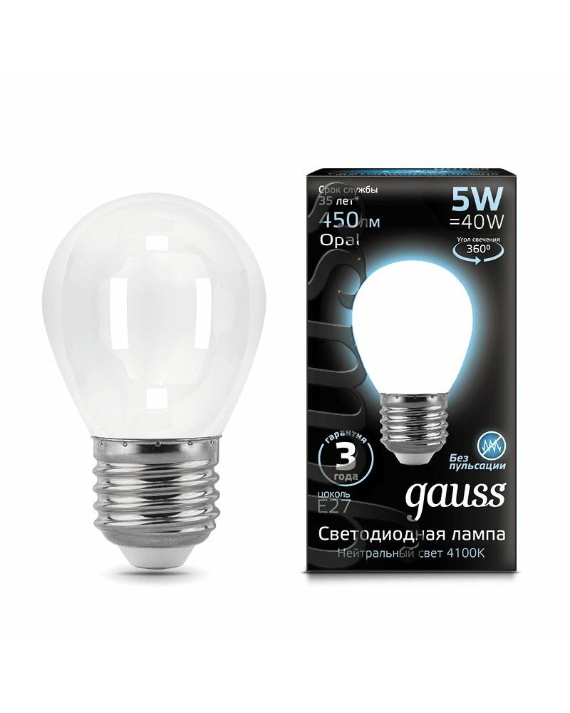 Лампочка Gauss 105202205 P45 E27 5 Вт 4100K
