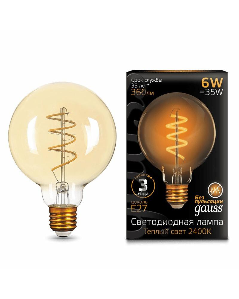Лампочка Gauss 105802007 G95 E27 6 Вт 2400K