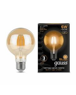 Подробнее о Лампочка Gauss 105802006 G95 E27 6 Вт 2400K
