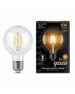 Лампочка Gauss 105802106 G95 E27 6 Вт 2700K
