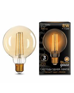 Лампочка Gauss 105802008 G95 E27 8 Вт 2400K