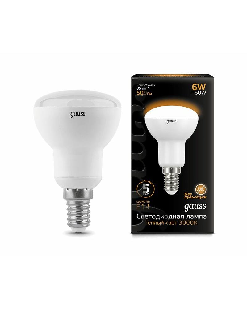 Лампочка Gauss 106001106 R50 E14 6 Вт 3000K