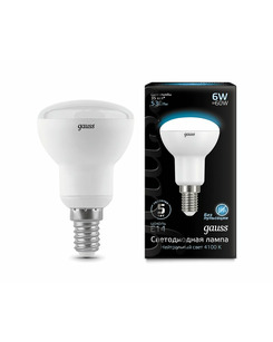 Лампочка Gauss 106001206 R50 E14 6 Вт 4100K