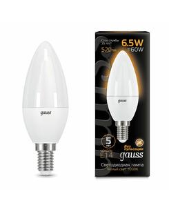 Лампочка Gauss 103101107 C37 E14 6.5 Вт 3000K