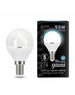 Лампочка Gauss 105101210 P45 E14 9.5 Вт 4100K
