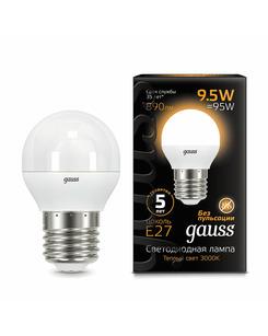 Лампочка Gauss 105102110 P45 E27 9.5 Вт 3000K