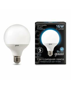 Лампочка Gauss 105102216 G95 E27 16 Вт 4100K