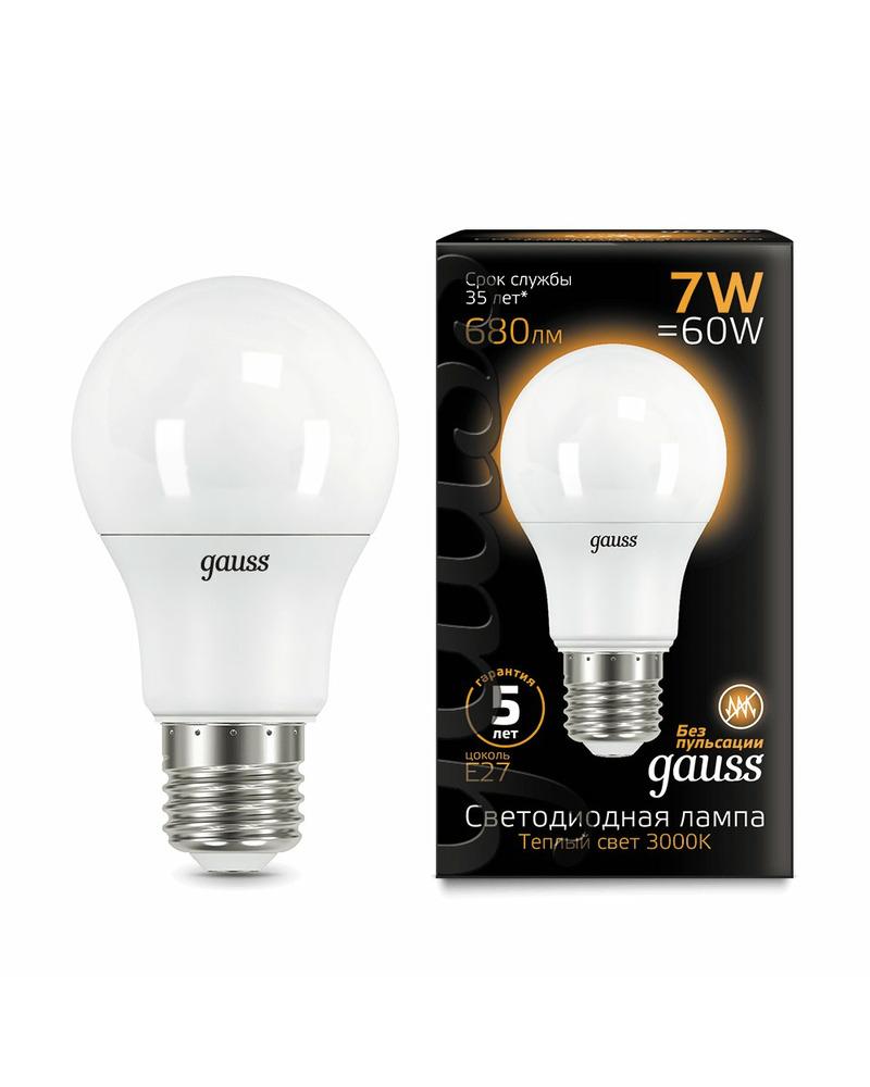 Лампочка Gauss 102502107 A60 E27 7 Вт 3000K
