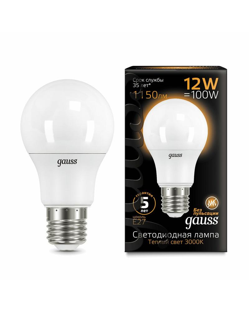 Лампочка Gauss 102502112 A60 E27 12 Вт 3000K