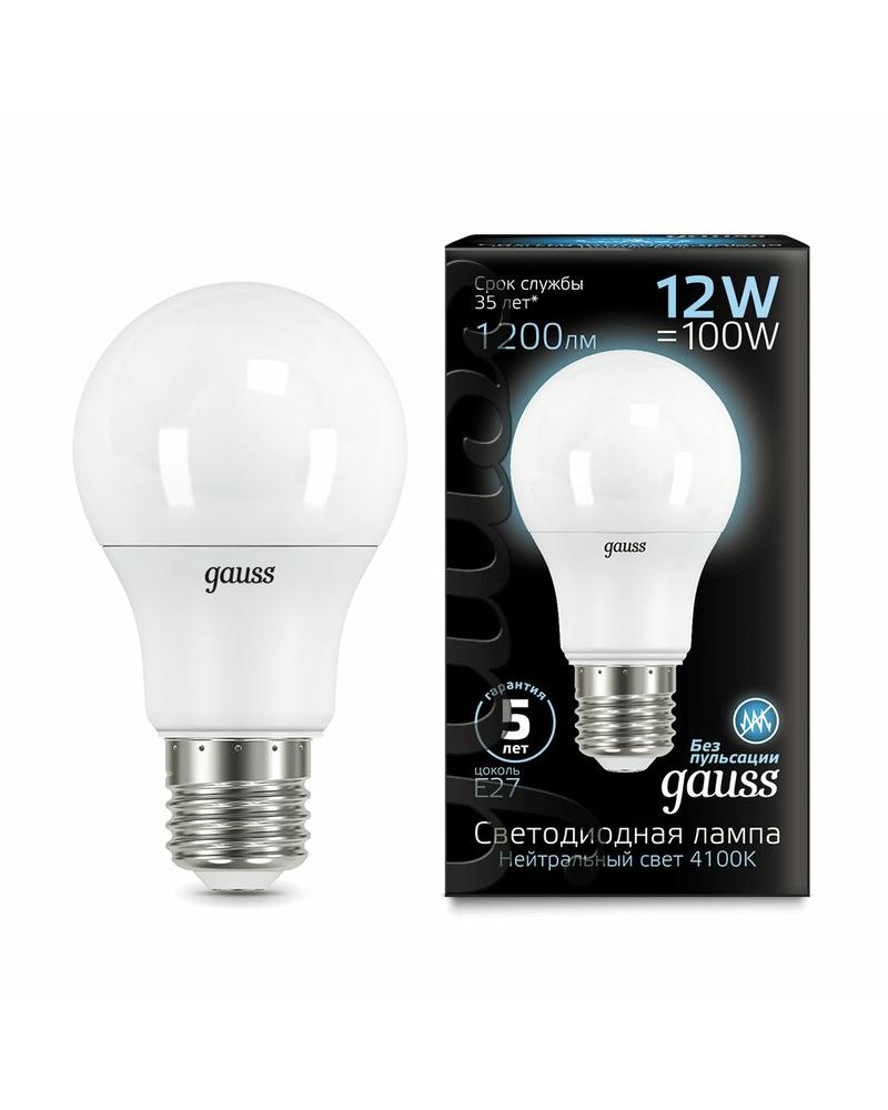 Лампочка Gauss 102502212 A60 E27 12 Вт 4100K