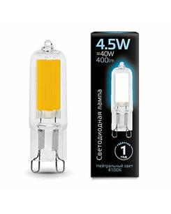 Лампочка Gauss 107809204 Капсульная G9 4.5 Вт 4100K