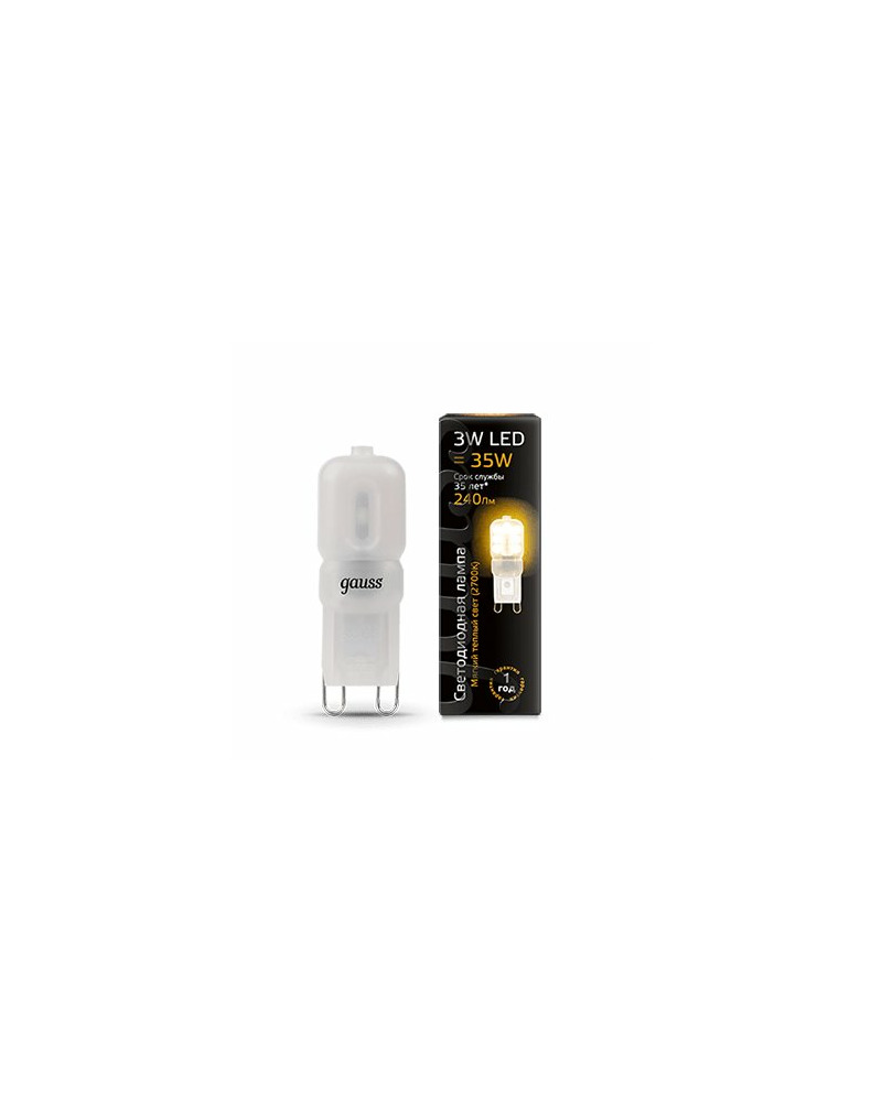 Лампочка Gauss 107409103 Капсульная G9 3 Вт 2700K